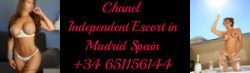Chanel latin escort in Madrid